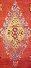 "Load image into Gallery viewer, Marvelous Moroccan - 1900's Antique Gallery Berber Red Rug - 5'6"" x 16' ft."