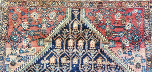 "Spectacular Senneh - 1920s Antique Oriental Rug - Nomadic Carpet - 3'9"" x 6' ft."