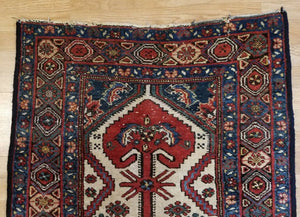 "Marvelous Malayer - 1900s Antique Persian Rug - Tribal Runner 2'10"" x 12'1"" ft."