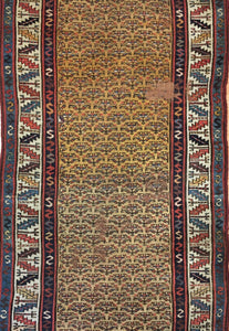 "Classic Caucasian - 1940s Antique Tribal Rug - Oriental Carpet - 6'6"" x 8' ft."