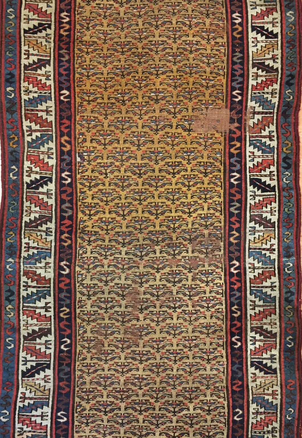 Classic Caucasian - 1940s Antique Tribal Rug - Oriental Carpet - 6'6