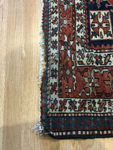 "Load image into Gallery viewer, Handsome Heriz - 1900s Antique Persian Rug - Tribal Carpet - 4'5"" x 6' ft."