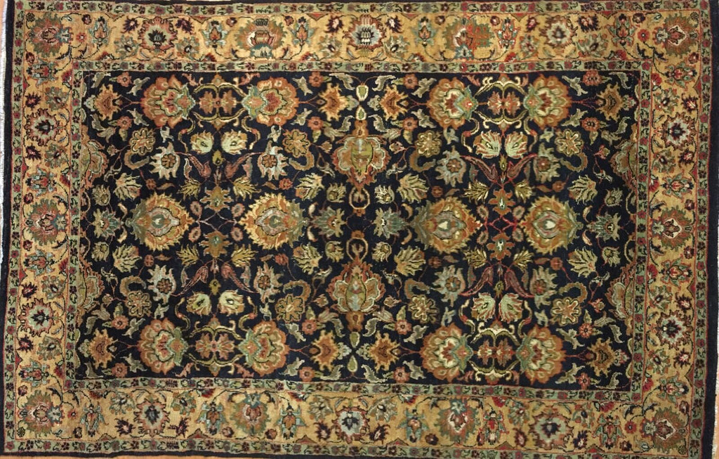"Amazing Agra - Vintage Indian Rug - Oriental Floral Carpet - 5'4"" x 8'3"" ft."