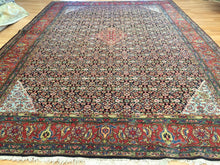 "Load image into Gallery viewer, Perfect Persian - 1930s Antique Bijar Rug - Herati Carpet - 9' x 12'2"" ft."