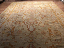 "Load image into Gallery viewer, Oustanding Oushak - 1880s Antique Turkish Rug - Tribal Carpet - 10'3"" x 14'4"" ft."