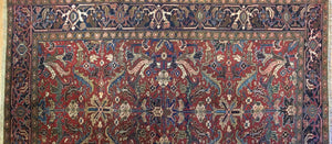 "Marvelous Mahal - 1920s Antique Persian Rug - Tribal Carpet - 6'7"" x 9'4"" ft."