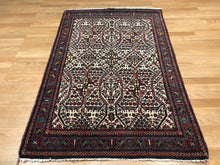 "Load image into Gallery viewer, Jovial Josheghan - 1920s Antique Persian Rug - Tribal Carpet - 3'6"" x 5'2"" ft."