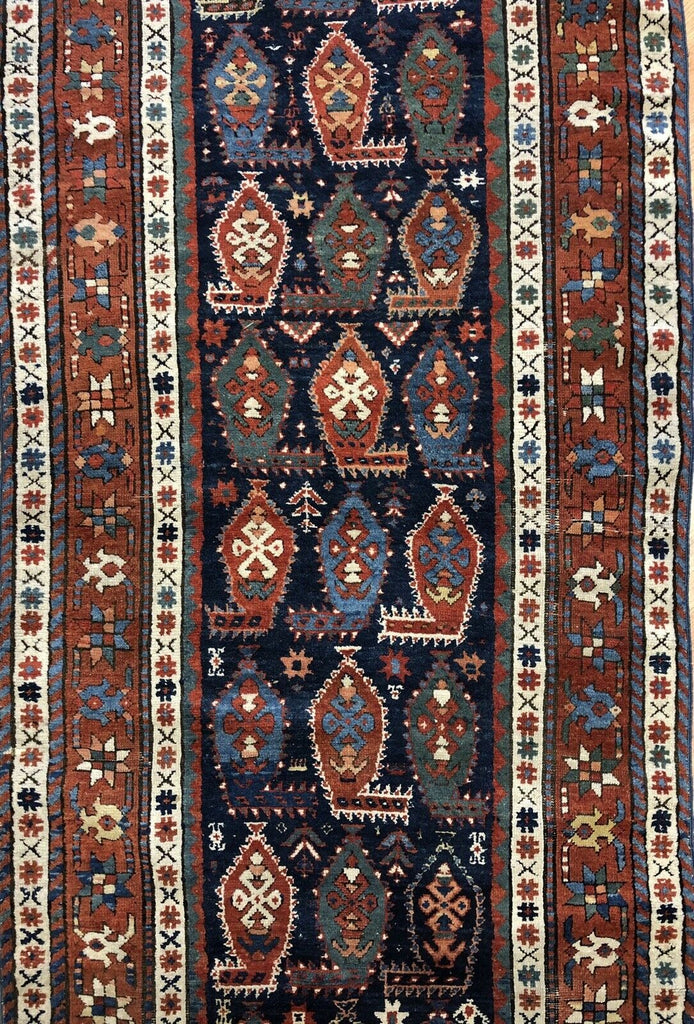 "Special Shirvan - 1880s Antique Caucasian Rug - Tribal Runner - 3'2"" x 8'2"" ft."