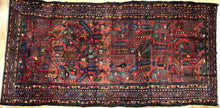 "Load image into Gallery viewer, Handsome Hamadan - 1940s Antique Persian Rug - Tribal Carpet - 5' x 9'10 ""ft."