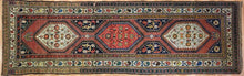"Load image into Gallery viewer, Classic Caucasian - 1900s Antique Kazak Runner - Tribal Oriental Rug 3'9"" x 11'9"" ft"