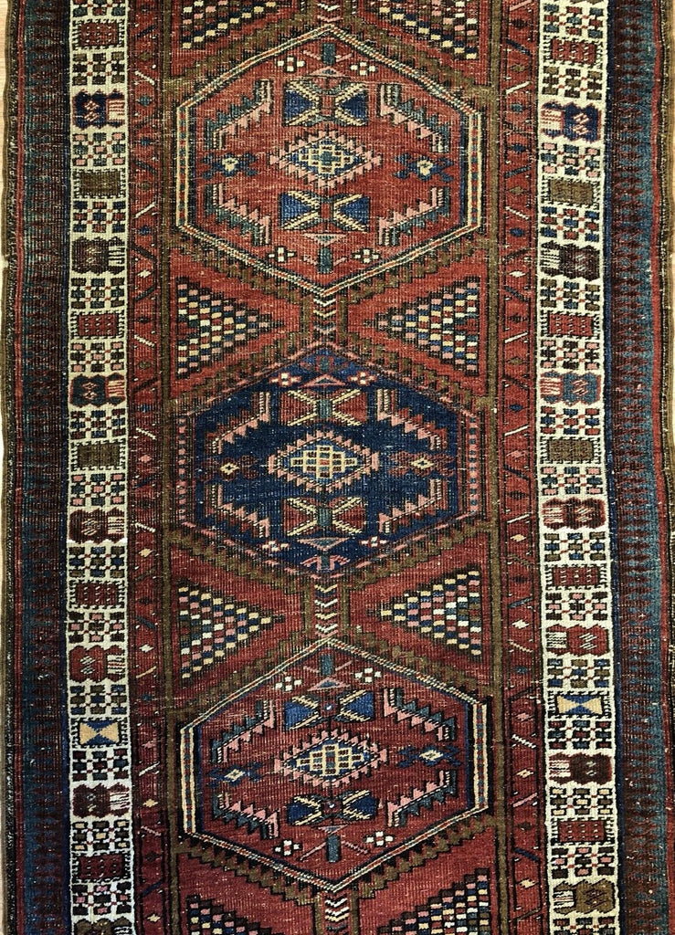 "Special Serab - 1900s Antique Persian Rug - Camel Hair Runner - 3'6"" x 10'1"" ft."