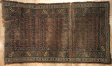"Load image into Gallery viewer, Perfect Persian - 1900s Antique Kurdish Rug - Tribal Carpet - 4' x 6'10"" ft."
