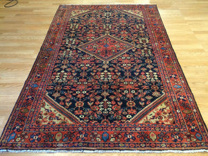 "Marvelous Malayer - 1910s Antique Persian Rug - Tribal Carpet - 4'4"" x 6'8"" ft."