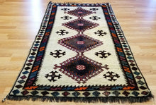 "Load image into Gallery viewer, Special Shiraz - 1940s Antique Persian Rug - Tribal Carpet - 3'4"" x 6'6"" ft."
