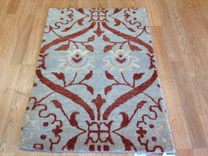Marvelous Modern - Contemporary Hand-Woven Indian Rug - Nepali Weave - 2' x 3' ft.