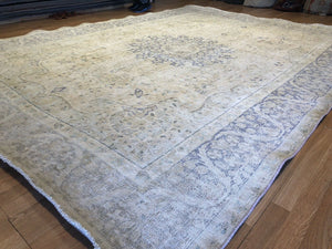 "Outstanding Overdye - 1960s Antique Turkish Rug - Tribal Carpet - 8'8"" x 11'8"" ft."
