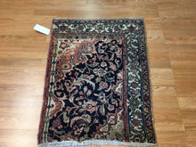 "Load image into Gallery viewer, Whimsical Wagireh - 1910s Antique Kurdish Rug - Persian Koliaei Carpet - 2'2"" x 2'10"" ft."