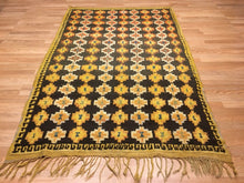 "Load image into Gallery viewer, Marvelous Moroccan - 1940s Antique Tribal Rug - Colorful Carpet - 4'8"" x 7'5"" ft."
