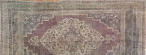 "Tremendous Turkish - 1940s Antique Oushak Rug - Traditional Tribal 7'1"" x 11'8"" ft"