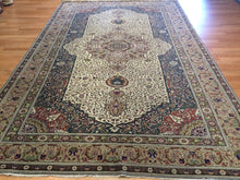 "Load image into Gallery viewer, Terrific Turkish - 1940s Antique Kayseri Rug - Oriental Floral Carpet 6'5"" x 10'1"" ft."