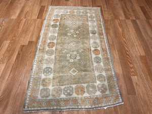 "Opulent Oushak - 1960s Vintage Turkish Rug - Tribal Carpet - 2'5"" x 4'5"" ft."