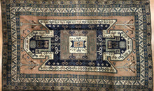 "Load image into Gallery viewer, Astounding Ardebil - 1940s Antique Caucasian Rug - Tribal Carpet - 5'4"" x 8'7"" ft."