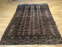 "Load image into Gallery viewer, Tremendous Turkmen - 1920s Tekke Gul Bokhara Rug - Tribal Carpet - 5'1"" x 7'4"" ft"