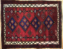 "Load image into Gallery viewer, Special Shiraz - 1980s Antique Persian Rug - Tribal Carpet - 4'8"" x 5'10"" ft."