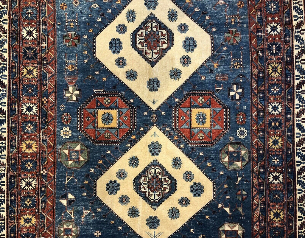 "Special Shirvan - 1900s Antique Caucasian Rug - Tribal Carpet - 6' x 8'10"" ft."