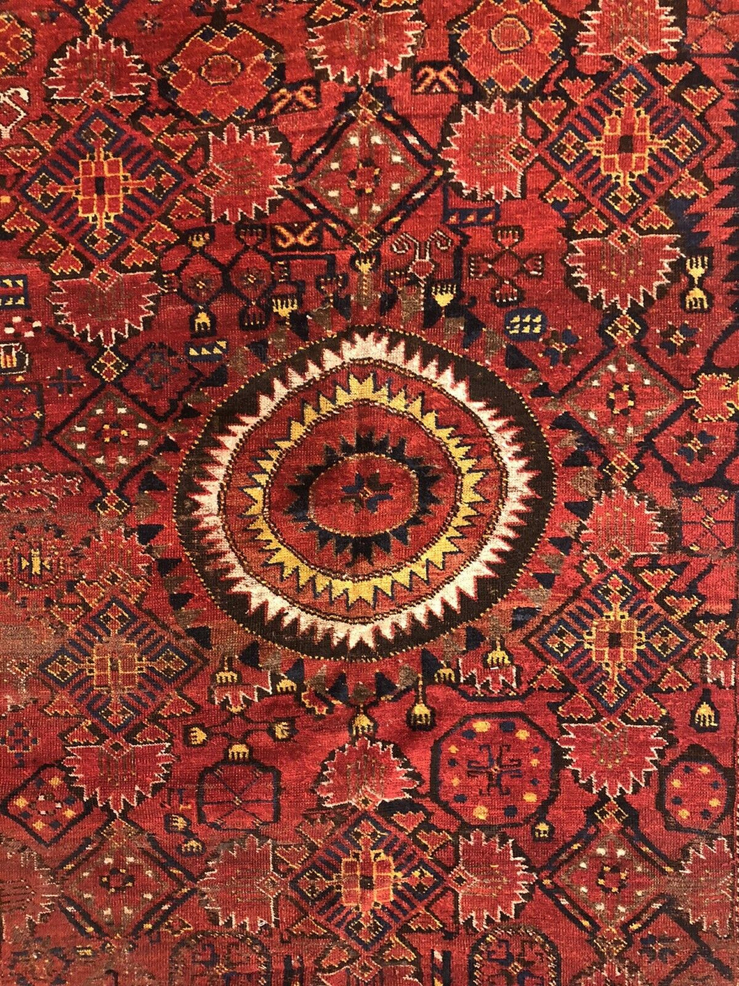 Amazing Afghan Rug - 1880s Antique Turkmen Rug - Tribal Gallery 6'3