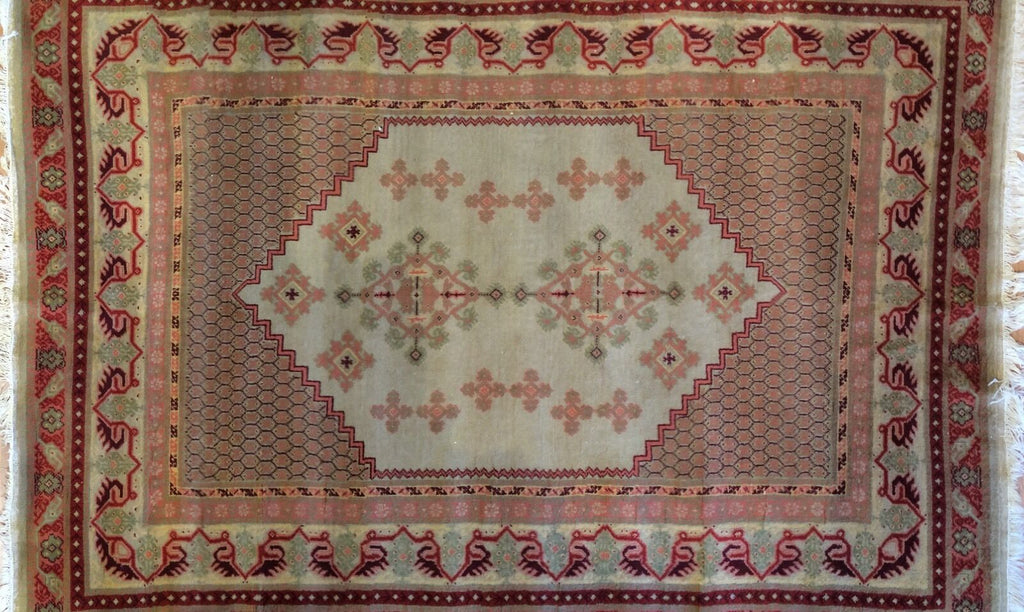 "Marvelous Moroccan - 1940s Antique Tribal Rug - Traditional Carpet 5'7"" x 7'8"" ft."