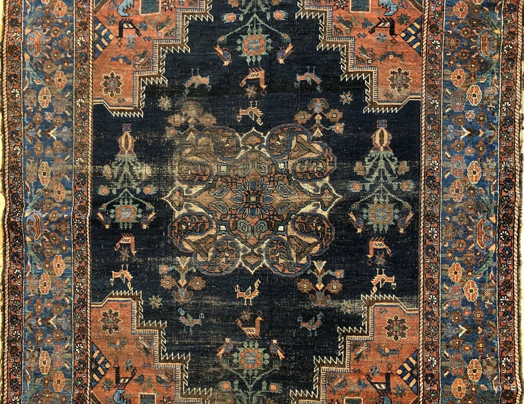 Amazing Afshar - 1900s Antique Persian Rug - Tribal Carpet - 5' x 6'8