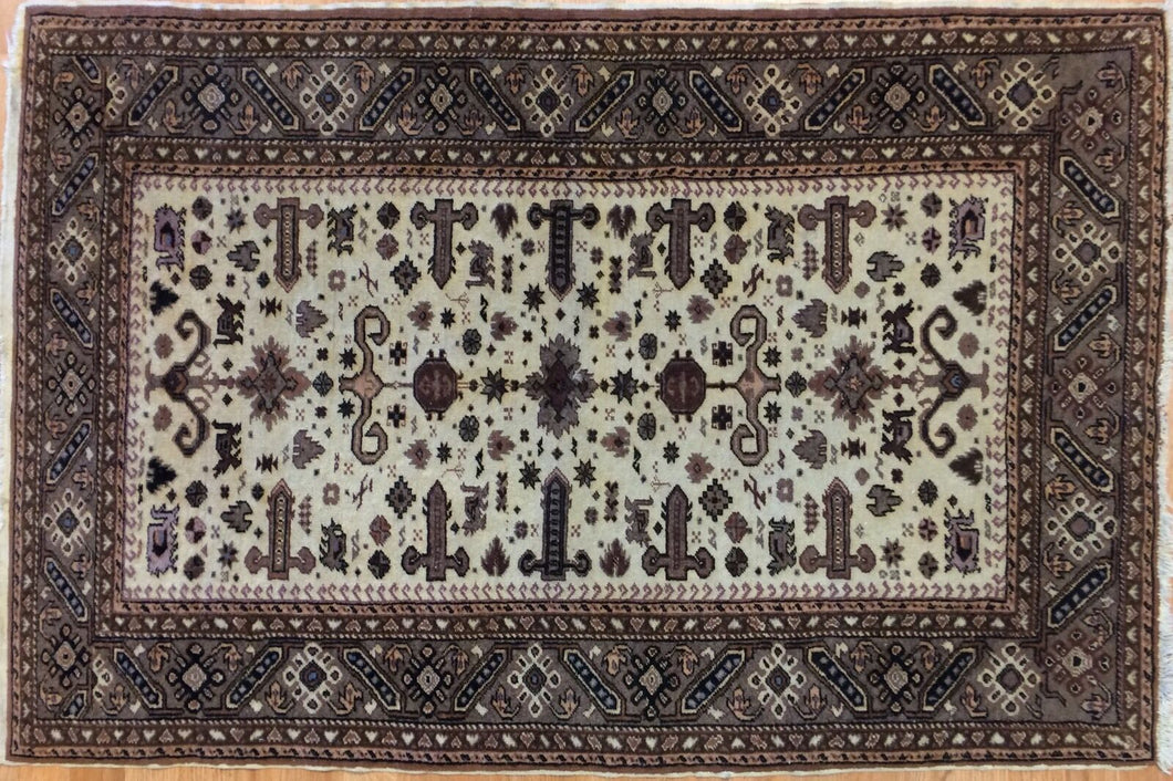 Amazing Ardebil - 1960s Vintage Persian Rug - Tribal Carpet - 3' x 4'5