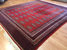 "Load image into Gallery viewer, Beautiful Bokhara - Vintage Pakistani Rug - Tribal Oriental Carpet - 9'3"" x 10'9"" ft"
