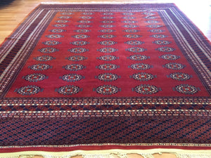 "Beautiful Bokhara - Vintage Pakistani Rug - Tribal Oriental Carpet - 9'3"" x 10'9"" ft"