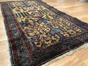 "Special Serab - 1920s Antique Camel Hair Rug - Tribal Carpet - 3'4"" x 6'1"" ft."