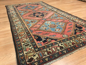 "Lovely Lilihan - 1920s Antique Persian Rug - Tribal Carpet - 3'7"" x 5'10"" ft."