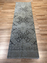 "Load image into Gallery viewer, Opulent Oushak - 1940s Vintage Turkish Rug - Tribal Runner - 2'2"" x 7'4"" ft."