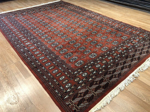 "Beautiful Bokhara - Vintage Pakistani Rug - Tribal Oriental Carpet - 6'1"" x 9' ft."