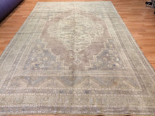 "Load image into Gallery viewer, Tremendous Turkish - 1940s Antique Oushak Rug - Traditional Tribal 7'1"" x 11'8"" ft"