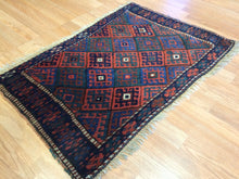 "Load image into Gallery viewer, Jovial Jaff - 1900s Antique Kurdish Tribal Rug - Bag Face Carpet - 2'2"" x 3'2"" ft."