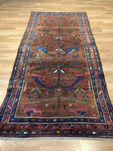 "Load image into Gallery viewer, Beautiful Bakhtiari- 1930s Antique Persian Rug - Tribal Carpet - 3'7"" x 7'7"" ft."