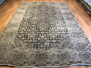 "Opulent Oushak - 1900s Vintage Turkish Rug - Tribal Carpet - 8' x 11'6"" ft."