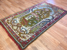 "Load image into Gallery viewer, Beautiful Bergama - 1860s Antique Turkish Rug - Oriental Carpet - 3'5"" x 5'9"" ft."
