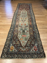"Load image into Gallery viewer, Special Shalamzar - 1890s Antique Bakhtiari Rug - Tribal Carpet - 3' x 11'6"" ft."