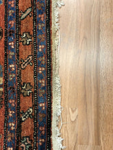 "Load image into Gallery viewer, Marvelous Mehraban - 1920s Antique Hamadan Rug - Tribal Runner - 3'5"" x 13'5"" ft."