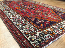"Load image into Gallery viewer, Marvelous Mosel - 1940s Antique Malayer Rug - Tribal Carpet - 4'5"" x 6'11"" ft."