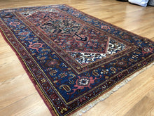 "Load image into Gallery viewer, Marvelous Malayer - 1900s Antique Persian Rug - Tribal Carpet - 4'3"" x 6'10"" ft."