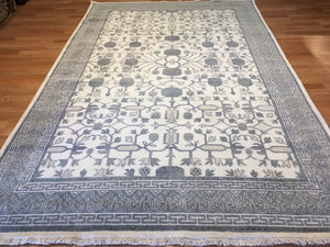 Intricate Indian - Vintage Khotan Rug - Pomegranate Design - 6' x 9' ft.