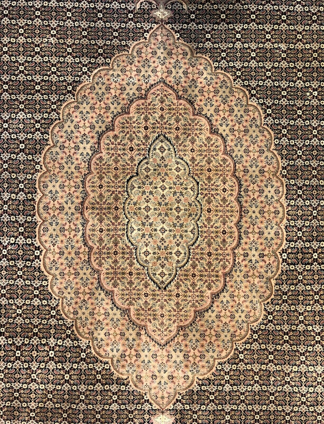 Fantastic Fish - Vintage Oriental Design - Chinese Carpet - 9' x 12' ft.